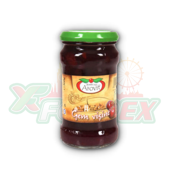 AROVIT SOUR CHERRY JAM 360GR 6/BOX