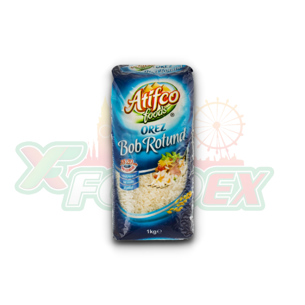 ATIFCO ROUND GRAIN RICE 1KG 10/BOX