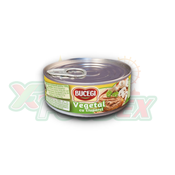 BUCEGI VEGETABLE SPREAD WITH MUSHROOMS 120GR 60/BOX