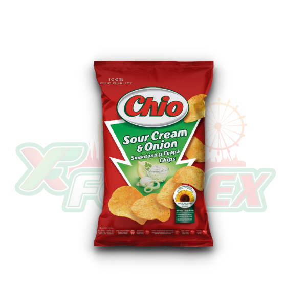 CHIO CHIPS SOUR CREAM & ONION 65GR 30/BOX