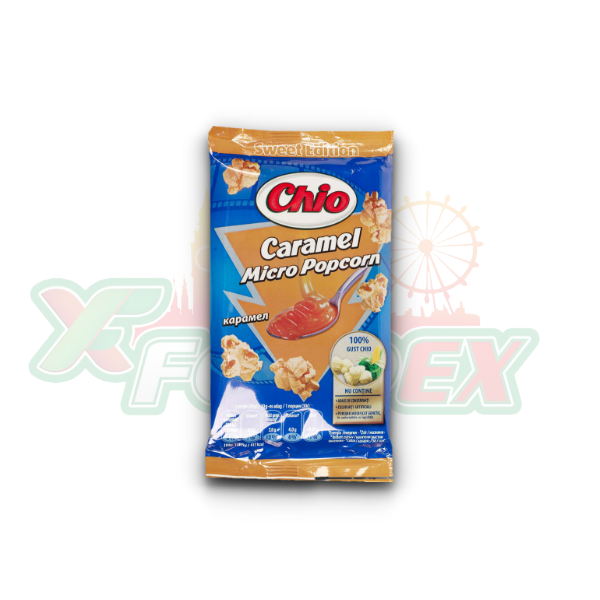CHIO MICRO POPCORN WITH CARAMEL FLAVOR 90GR 32/BOX