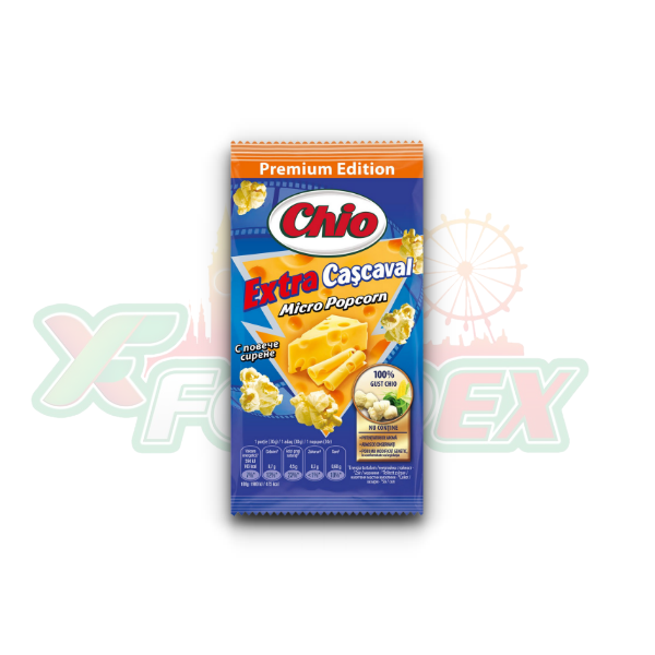 CHIO MICRO POPCORN WITH EXTRA CHEESE FLAVOR 75GR 32/BOX