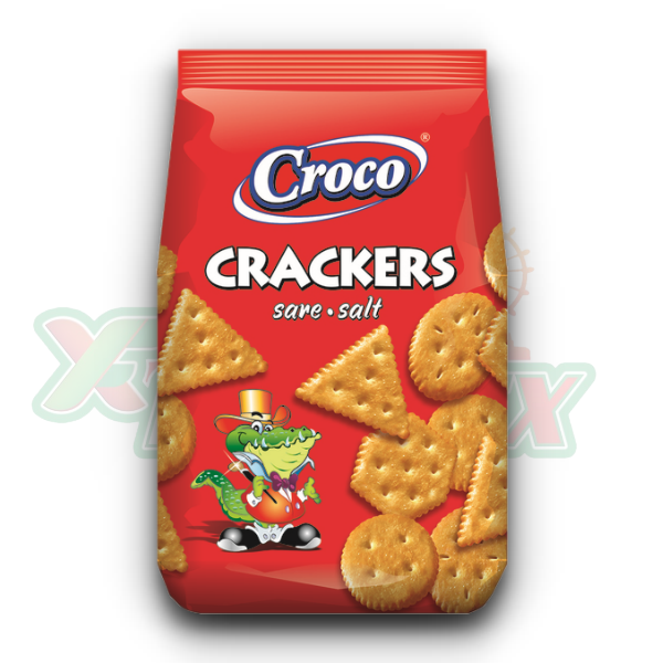 CROCO CRACKERS WITH SALT 400GR 12/BOX