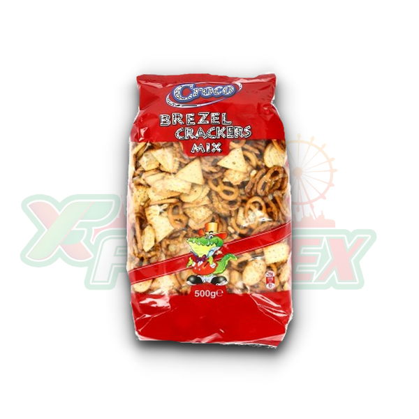 CROCO PRETZEL & CRACKERS MIX 500GR 6/BOX