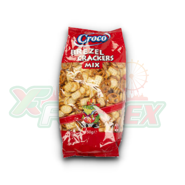 CROCO PRETZEL & CRACKERS MIX 750GR 2/BOX