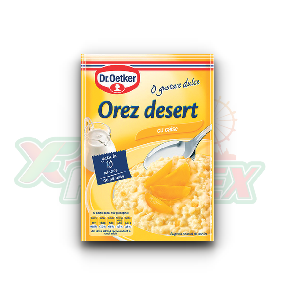 DR. OETKER RICE DESSERT WITH APRICOT 124GR 15/BOX