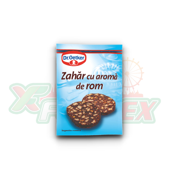 DR. OETKER SUGAR WITH RUM AROMA 8GR 50/BOX