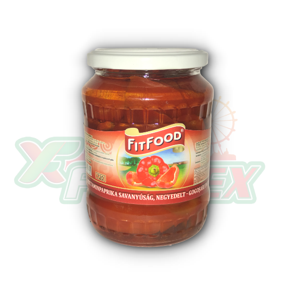 FITFOOD RED PEPPERS 720GR 8/BOX