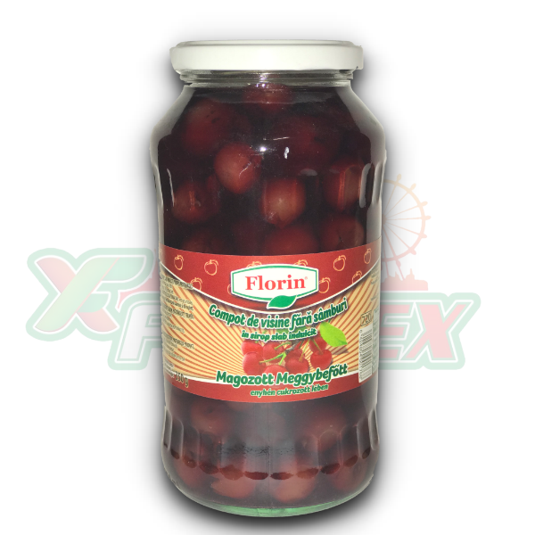 FLORIN PITTED SOUR CHERRY COMPOTE 720GR 8/BOX