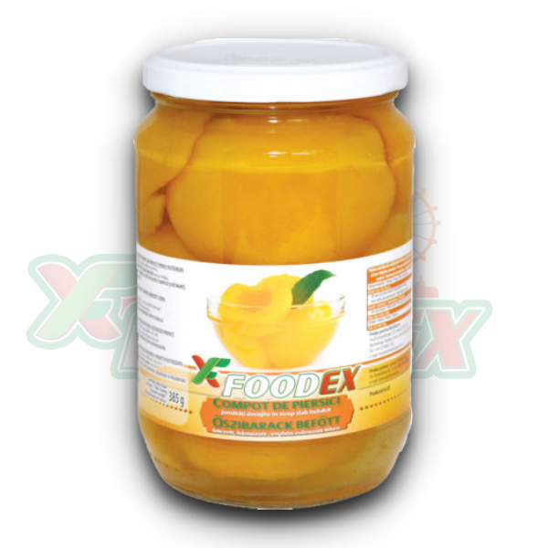 FOODEX PEACH COMPOTE 720GR 12/BOX