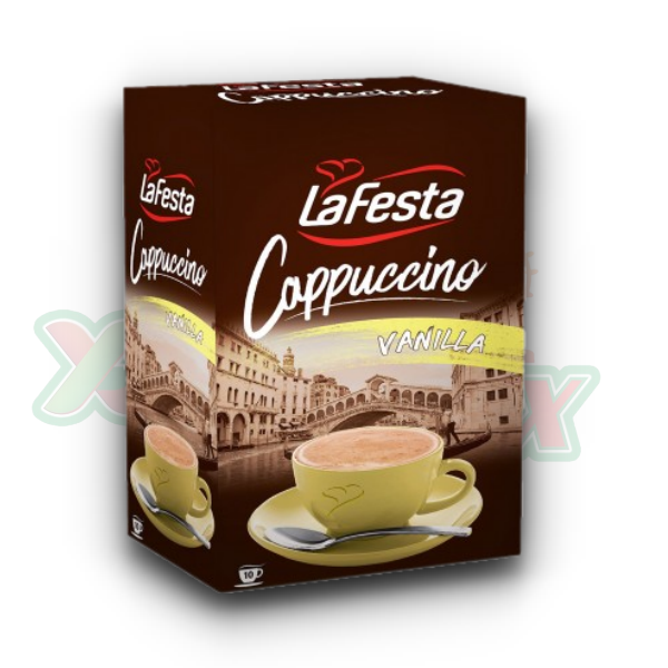 LA FESTA CAPPUCCINO VANILLA 10 X 12.5GR / DISPLAY, 8/BOX