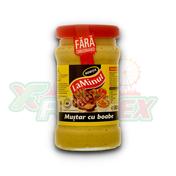 LA MINUT MUSTARD WITH SEEDS 300GR 6/BOX