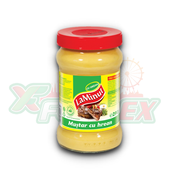 LA MINUT MUSTARD WITH HORSERADISH 300GR 6/BOX