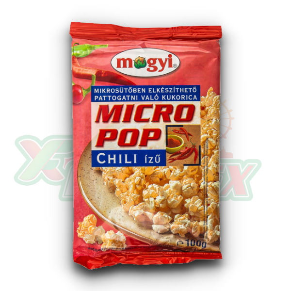 MOGYI MICRO POPCORN WITH CHILI FLAVOR 100GR 50/BOX