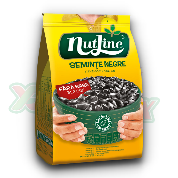 NUTLINE BLACK SUNFLOWER SEEDS NO SALT 300GR 18/BOX