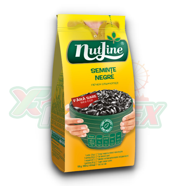 NUTLINE BLACK SUNFLOWER SEEDS NO SALT 200GR 24/BOX