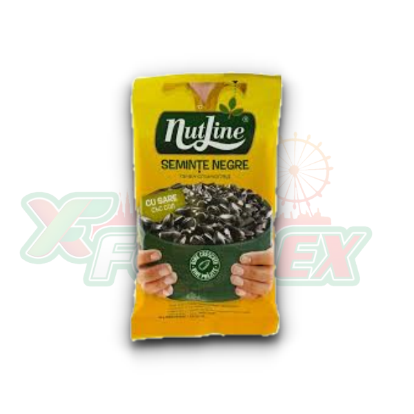 NUTLINE SALTED BLACK SUNFLOWER SEEDS 100GR 12/BOX