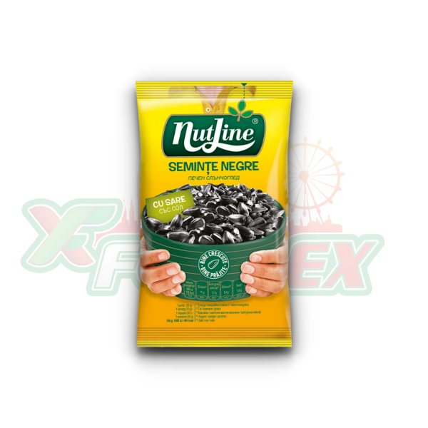 NUTLINE SALTED BLACK SUNFLOWER SEEDS 40GR 18/BOX