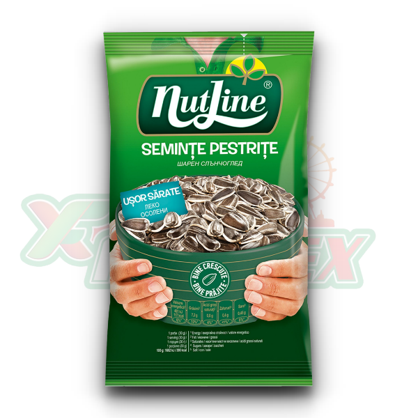NUTLINE SUNFLOWER SEEDS SLIGHTLY SALTED 100GR 12/BOX
