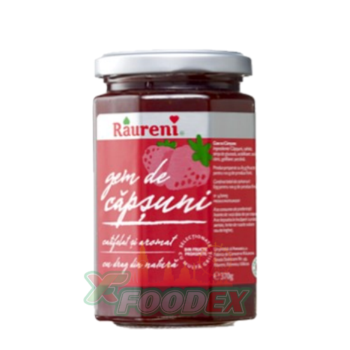 RAURENI STRAWBERRY JAM 370GR 6/BOX