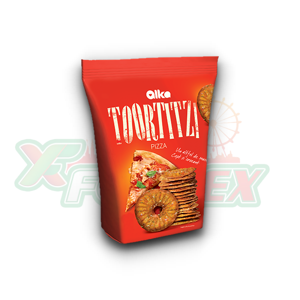 ALKA TOORTITZI CRACKERS WITH PIZZA FLAVOR 180GR 12/BOX