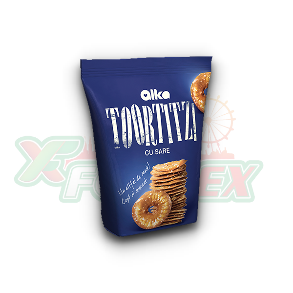 ALKA TOORTITZI CRACKERS WITH SALT 180GR 12/BOX