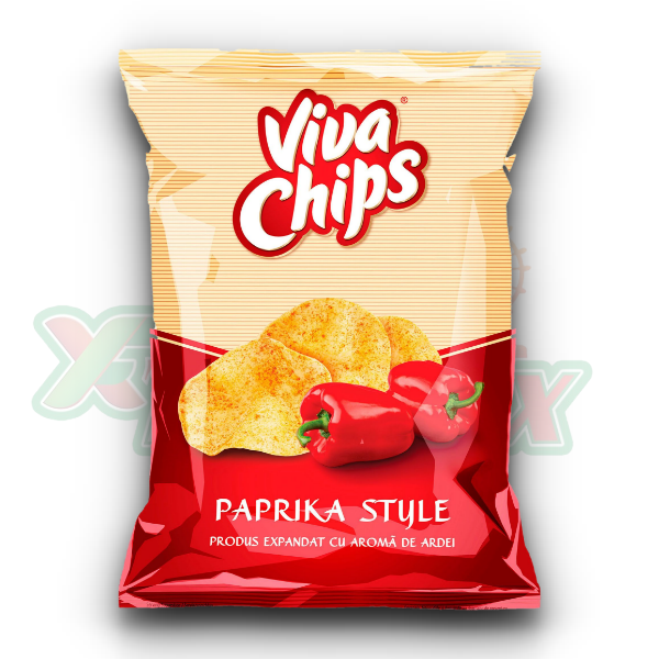 VIVA CHIPS WITH PAPRIKA 100GR 20/BOX