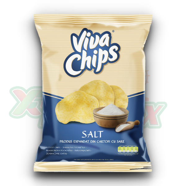 VIVA CHIPS READY SALTED 100GR 20/BOX