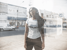 Load image into Gallery viewer, LSC Swag Model White Decolonize Ladies' Eco-Friendly t-shirt