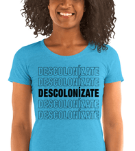 Load image into Gallery viewer, LSC Swag Agua Decolonize Ladies' Eco-Friendly t-shirt
