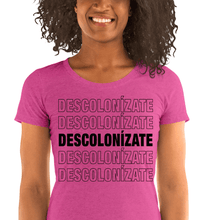Load image into Gallery viewer, LSC Swag Berry Decolonize Ladies' Eco-Friendly t-shirt
