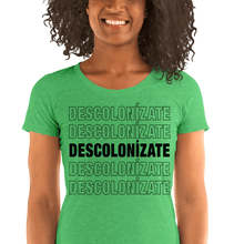 Load image into Gallery viewer, LSC Swag Green Decolonize Ladies' Eco-Friendly t-shirt
