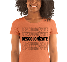 Load image into Gallery viewer, LSC Swag Orange Decolonize Ladies' Eco-Friendly t-shirt