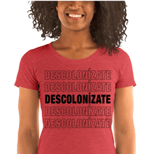 Load image into Gallery viewer, LSC Swag Red Decolonize Ladies' Eco-Friendly t-shirt
