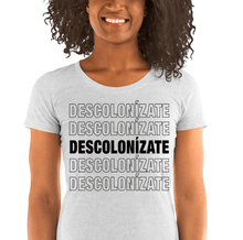Load image into Gallery viewer, LSC Swag White Fleck Decolonize Ladies' Eco-Friendly t-shirt