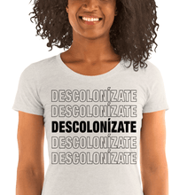 Load image into Gallery viewer, LSC Swag Oatmeal Decolonize Ladies' Eco-Friendly t-shirt