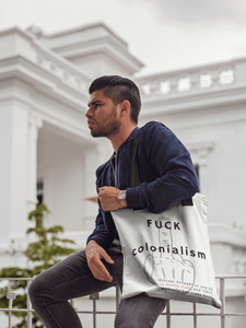 LSC Swag Model Fuck Colonialism Tote bag