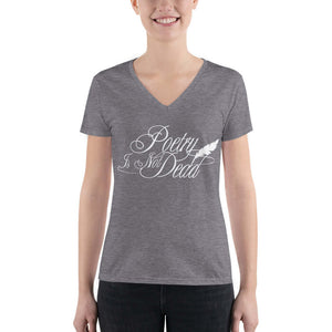 LSC's Poetry is Not Dead - Women's Fashion Deep V-neck Tee - LSC Swag