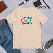 Load image into Gallery viewer, LSC Swag Gender Equality Eco-Friendly Unisex T-Shirt In Heather Dust