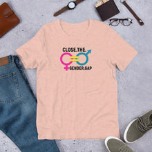 Load image into Gallery viewer, LSC Swag Gender Equality Eco-Friendly Unisex T-Shirt In Heather Prism Peach