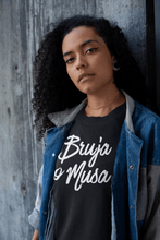 Load image into Gallery viewer, LSC Swag Model Black Bruja o Musa Eco-Friendly Women's T-Shirt