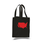 California- cotton canvas natural tote bag