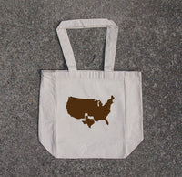 Texas- cotton canvas natural tote bag
