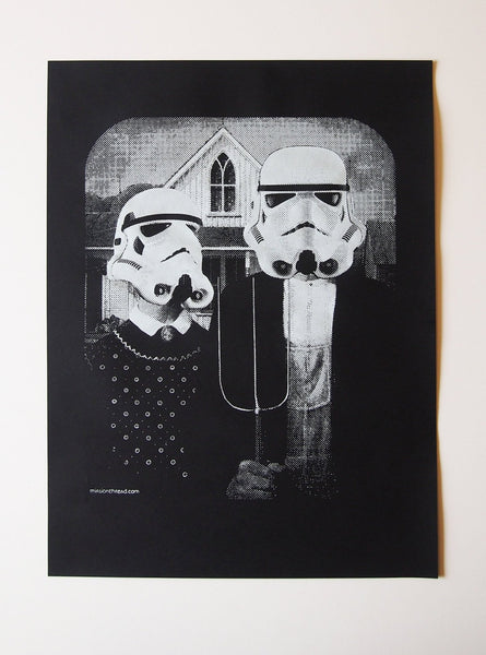 Star Wars American Gothic parody poster, Star Wars print- Worldwide shipping