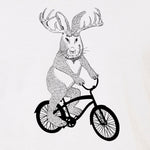 Jackalope on a bike