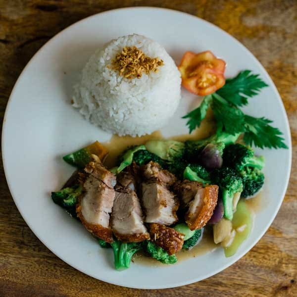 Lechon Broccoli Rice