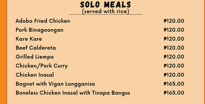 SOLO MEALS