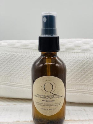 Qrema BAMBOO Hand Sanitizer Spray Bottle - Qrema Take a stroll through a rainforest, sanitize your hands with BAMBOO scented hand sanitizer  Ingredients: 91% isopropyl alcohol, aloe vera gel, fragrance essential oil.  *hand sanitizer contains 80% isopropyl alcohol*  Net 2 oz Glass Bottle.