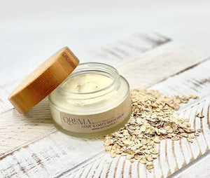 Qrema LOVE & OATS Body Balm - Qrema great cream for your face, eczema, dry skin and acne