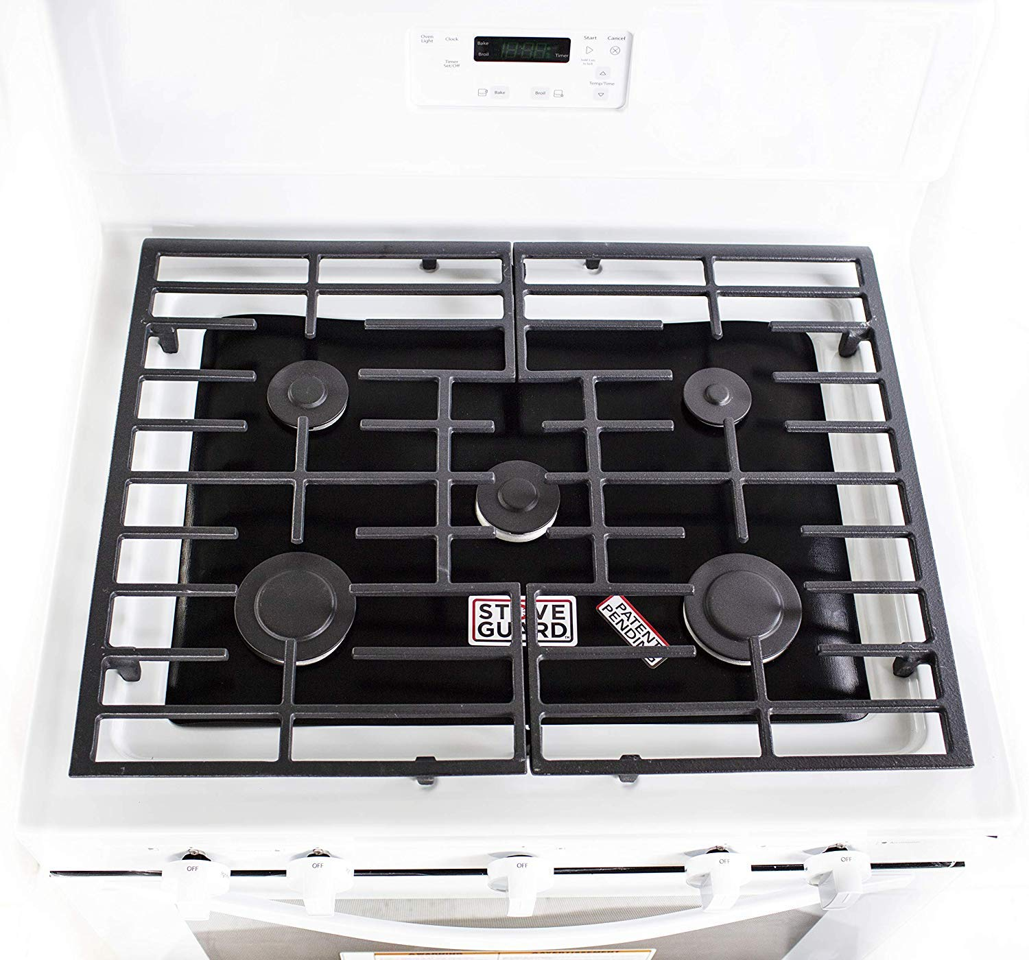 Stove Top Protector for GE Gas Ranges Customized Easy Cleaning Stove Liners for GE Model JGB720SEJ2SS GE Stove Protector Liners